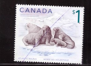 Canada Scott 1689 Used Walrus stamp
