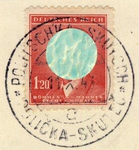 BÖHMEN u. MAHREN - 1943  POLITSCHKA - SKUTSCH  TPO n°143a CDS on Mi.96