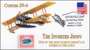 18-099, 2018, Inverted Jenny, NORPEX, pictorial, Event Cover, Cutis JN-4