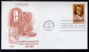 US 2038 Joseph Preistly Artmaster U/A FDC