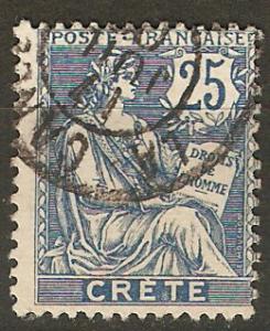 France Off Crete 9 Mi 9 Used Avg  1902  SCV $4.25