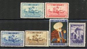 Turkey # 869-74, Mint Never Hinge. CV $ 7.75