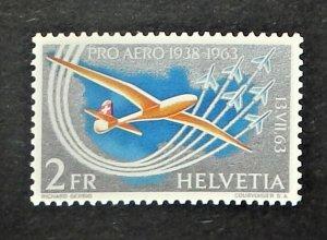 Switzerland C46. 1963 First Alpine Flight by Oscar Bider, NH