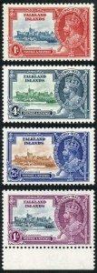 Falkland Is SG139/42 1935 Silver jubilee Very Fine M/Mint