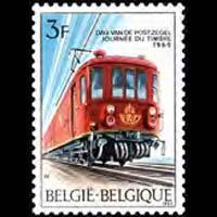 BELGIUM 1969 - Scott# 717 Stamp Day-Train Set of 1 NH