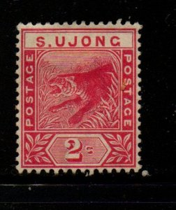 Malaya Sungei Ujong Sc 31 1891 2 c rose Tiger stamp mint