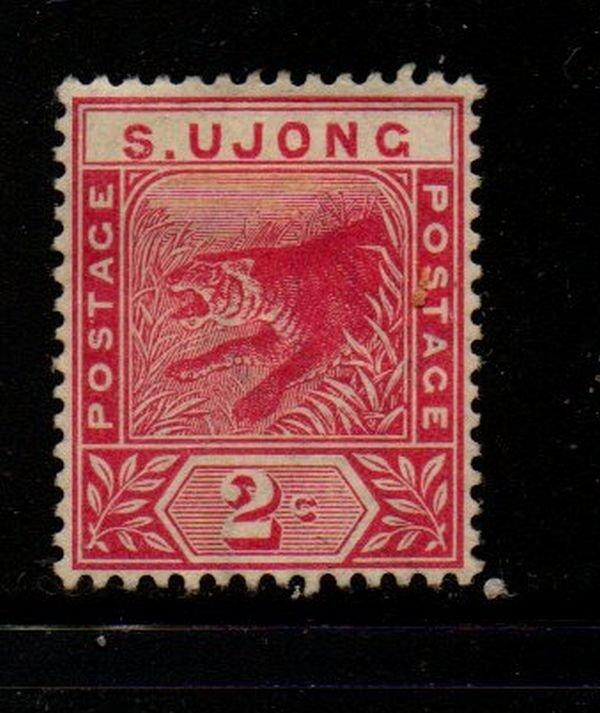 Malaya Sungei Ujong Sc 31 1891 2 c rose Tiger stamp mint
