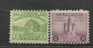 US, 728-729, MH,CENTURY OF PROGRESS