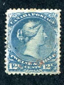 Canada #28   Used  VF.   - Lakeshore Philatelics