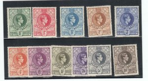 SWAZILAND # 27-37 VF-MH KGV1 ISSUES