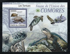 Comoro Islands MNH S/S Turtles 2009