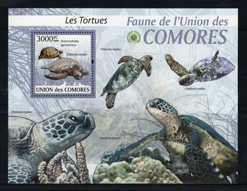 Comoro Islands MNH S/S Turtles 2009