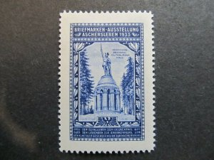 A4P2F48 Germany Poster Stamp 1933 International Philatelic Exhibition mh*
