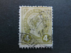 A4P26F29 Letzebuerg Luxembourg 1895 4c used