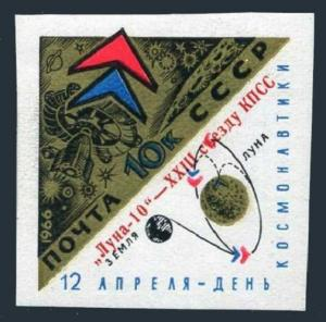 Russia 3192,lightly hinged.Michel 3204. Luna 10 Automatic Moon Station,1966.