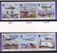 Isle of Man Sc 987-8 2003 Powered Flight airplanes stamp set mint NH