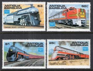Antigua 934-937 Trains MNH VF