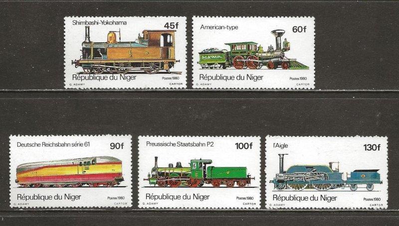 Niger Scott catalog # 514-518 Mint NH