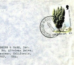 BERMUDA Cover *Plant a Tree* 1973 ROBSON LOWE Air Mail Stationery {samwells}CP85