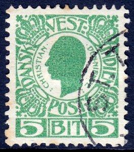 Danish West Indies (DWI) - Scott #31 - Used - Thin, crease on hinge - SCV $3.25