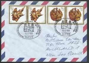 GERMANY 1989 airmail cover to New Zealand - nice franking..................11276