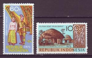 J21053 Jlstamps 1972 indonesia hv,s of set mh #832-3 designs