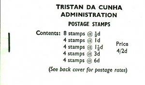 Tristan da Cunha 1970 SG #SB4 Booklet 1965 Queen Elizabeth II Scenics