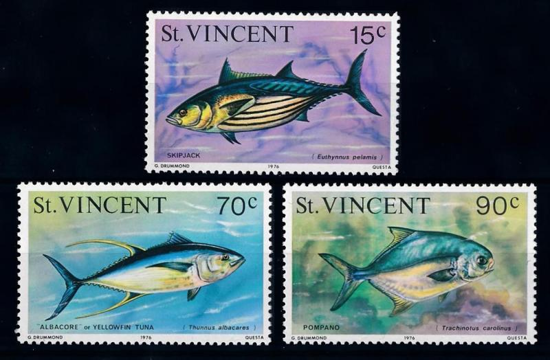 [65997] St. Vincent 1976 Marine Life Fish with year 1976  MLH