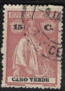 Cabo Verde Scott 154 Used Ceres stamp