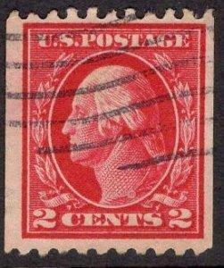 US Stamp #442 2c Washington Coil USED SCV $45