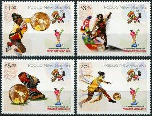 Papua New Guinea. 2016. FIFA U20 Women's Football World Cup (MNH OG) Set