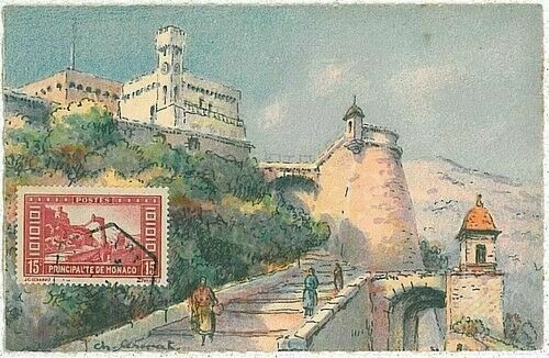 14656  - MONACO  - POSTAL HISTORY -  MAXIMUM CARD -  ARCHITECTURE