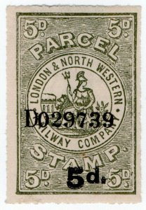 (I.B) London & North Western Railway : Parcel Stamp 5d