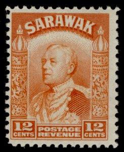 SARAWAK GVI SG114a, 12c orange, M MINT.