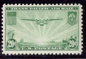 US Stamp #C21 20c China Clipper MINT NH SCV $10.00