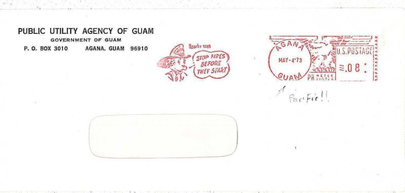 ANIMALS: DOG / FIREFIGHTER - POSTAL HISTORY : USA automatic red franking  1973