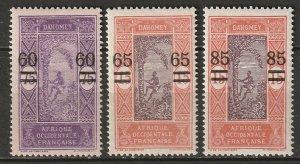 Dahomey 1922 Sc 87-9 set MH*