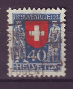J14269 JLstamps 1921 swiss used semi #b20 switzerland $54.00 scv