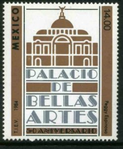 MEXICO 1364, 50th ANNIVERSARY OF THE PALACE OF FINE ARTS, MINT, NH. F-VF.