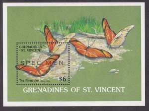 St. Vincent Grenadines # 669 Butterfly, Specimen Souvenir Sheet, NH, 1/2 Cat.