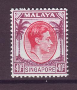 J21353 Jlstamps 1948 singapore mvlh #16 king perf 14