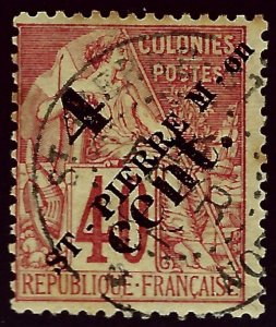 St. Pierre & Miquelon Sc #45 Used Fine hr...French Colonies are Hot!