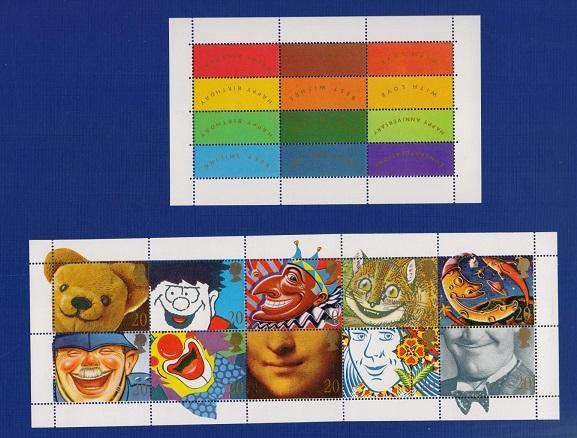 Great Britain 1990 MNH booklet pane greetings stamps