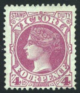 Victoria 1886 4d Bright Mauve-Rose SG 300a Scott 150 LMM/MLH Cat £90($118)