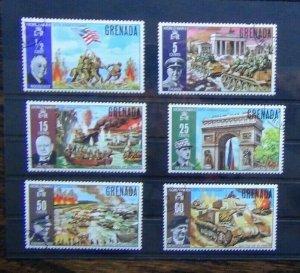 Grenada 1970 25th Anniversary of ending of world War 2 set Fine Used