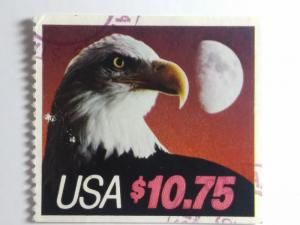 SCOTT # 2122 USED EAGLE AND HALF MOON $ 10.75 BOOKLET PANE