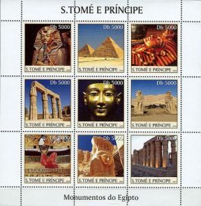SAO TOME E PRINCIPE 2003 SHEET MONUMENTS OF EGYPT PYRAMIDS st3320