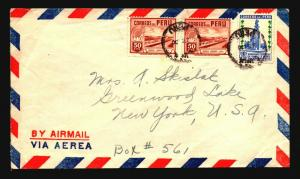 Peru 1930s Airmail Cover to USA (I) - Z14630