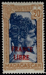 Madagascar France Libre SC#228 Mint F-VF Signed CV$675...Buy before prices rise!
