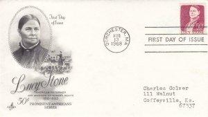 1968, 50c Lucy Stone, Artcraft, FDC (D7232)